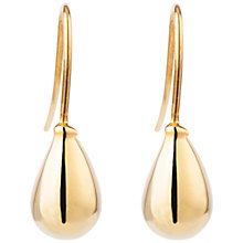 Buy Susan Caplan Vintage for John Lewis 1990s Gold Plated Teardrop Earrings, Gold Online at johnlewis.com