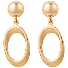 Buy Susan Caplan Vintage 1970s Trifari Gold Plated Earrings, Gold Online at johnlewis.com