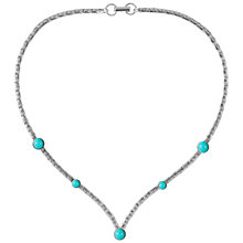 Buy Susan Caplan Vintage 1970s Sarah Coventry Faux Turquoise Necklace, Silver Online at johnlewis.com