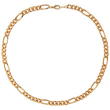 Buy Susan Caplan Vintage for John Lewis 1990s Gold Plated Figaro Chain Necklace, Gold Online at johnlewis.com