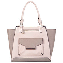 Buy Miss Selfridge Colour Block Tote, Nude Online at johnlewis.com