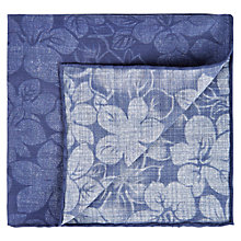 Buy Aquascutum Anna Floral Pocket Square, Indigo Online at johnlewis.com