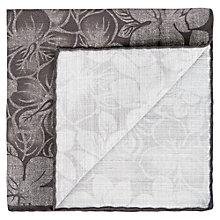 Buy Aquascutum Anna Floral Pocket Square, Grey Online at johnlewis.com