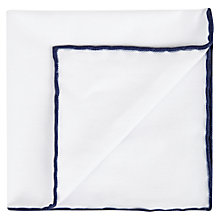 Buy Aquascutum Waver Cotton Pocket Square Online at johnlewis.com