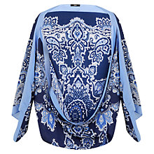 Buy Oasis Poppy Paisley Cape, Multi Blue Online at johnlewis.com