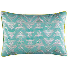 Buy Kas Tangi Cushion, Aqua Online at johnlewis.com