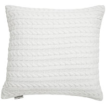 Buy Jigsaw Cotton X Cashmere Cushion, Chalk Online at johnlewis.com