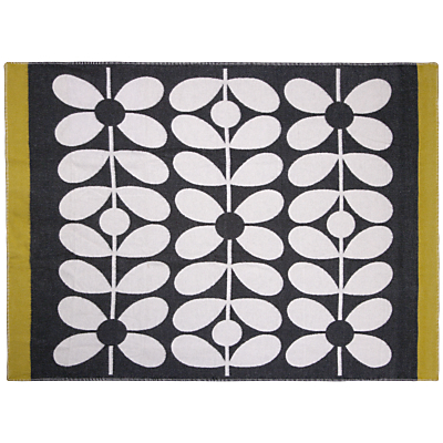 Orla Kiely 60s Scribble Stem Throw, Black