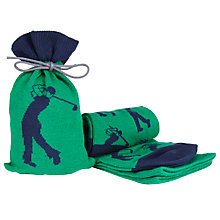 Buy John Lewis Golf Socks in a Bag, One Size, Green/Navy Online at johnlewis.com