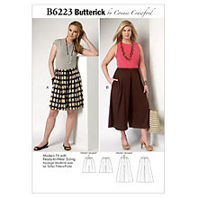 Buy Butterick Women's Culottes Sewing Pattern, 6223 Online at johnlewis.com
