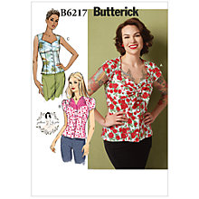 Buy Butterick Women's Bow Detail Button Blouse Sewing Pattern, 6217 Online at johnlewis.com
