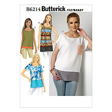 Buy Butterick Women's Panel Detail Top Sewing Pattern, 6214 Online at johnlewis.com