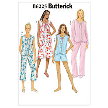 Buy Butterick Women's Top, Gown, Shorts and Trousers Sewing Pattern, 6225 Online at johnlewis.com