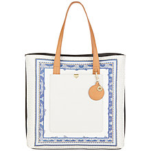 Buy Nica Laila Printed Tote Bag, White / Blue Online at johnlewis.com