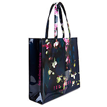 Buy Ted Baker Kidcon Large Fuchsia Floral Shopper Bag, Navy Online at johnlewis.com