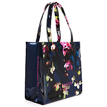 Buy Ted Baker Orecon Small Fuchsia Floral Shopper Bag, Navy Online at johnlewis.com