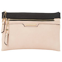 Buy Dune Demily Double Pouch Across Body Bag, Black Online at johnlewis.com