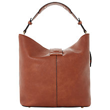 Buy Dune Doris Front Strap Hobo Bag, Tan Online at johnlewis.com