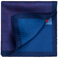 Buy Thomas Pink Bilsdale Pocket Square, Blue/Red Online at johnlewis.com