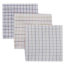 Buy Barbour Tattersal Cotton Handkerchiefs, Pack of 3, Multi Online at johnlewis.com