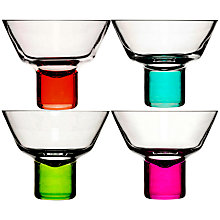 Buy Sagaform Club Martini Glasses, Set of 4, Neon Online at johnlewis.com