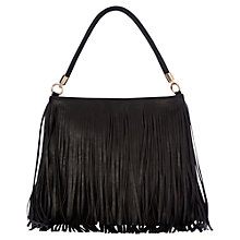 Buy Oasis Tasseled Shoulder Bag, Black Online at johnlewis.com