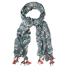 Buy White Stuff Prancing Peacock Scarf, Teal Online at johnlewis.com