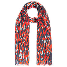 Buy Whistles Tyler Animal Print Scarf, Red Online at johnlewis.com