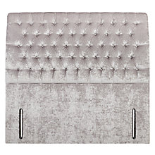 Buy John Lewis Windsor Buttoned Headboard, Double, Pewter Online at johnlewis.com