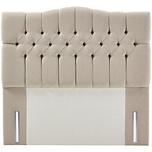Buy John Lewis Natural Collection Devonshire Full Depth Headboard, Canvas Pebble, Super King Size Online at johnlewis.com
