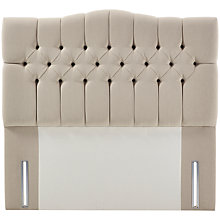 Buy John Lewis Natural Collection Devonshire Full Depth Headboard, Canvas Pebble, Double Online at johnlewis.com