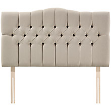 Buy John Lewis Natural Collection Devonshire Strutted Headboard, Canvas Pebble, Super King Size Online at johnlewis.com