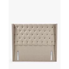 Buy John Lewis Natural Collection Harlow Full Depth Headboard, Canvas Pebble, King Size Online at johnlewis.com
