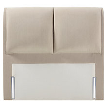 Buy John Lewis Natural Collection Harewood Full Depth Headboard, Canvas Pebble, Double Online at johnlewis.com