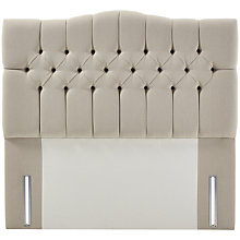 Buy John Lewis Natural Collection Devonshire Full Depth Headboard, Canvas Pebble, King Size Online at johnlewis.com