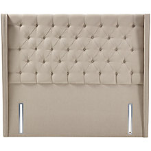 Buy John Lewis Natural Collection Harlow Full Depth Headboard, Canvas Pebble, Super King Size Online at johnlewis.com