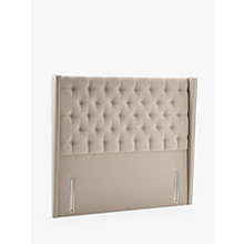 Buy John Lewis Natural Collection Harlow Full Depth Headboard, Canvas Pebble, Double Online at johnlewis.com