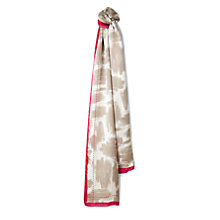 Buy Jaeger Brushstroke Silk Scarf, Natural/Beige Online at johnlewis.com