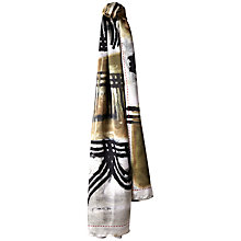 Buy Jaeger Large Silk Tile Scarf, Olive Online at johnlewis.com