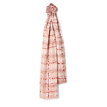 Buy Jaeger Splatter Tweed Scarf, Pink/Neutral Online at johnlewis.com
