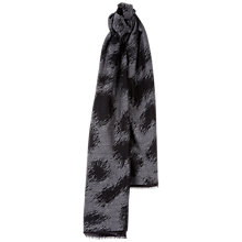 Buy Jaeger Oversized Leopard Wool and Silk Blend Scarf, Grey Online at johnlewis.com
