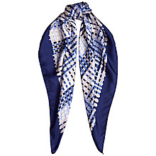 Buy Jaeger Woven Basket Print Scarf, Blue Online at johnlewis.com