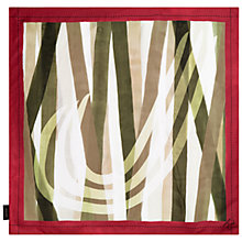 Buy Jaeger J Print Silk Scarf, Olive Online at johnlewis.com