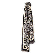 Buy Jaeger Modern Leopard Print Silk Scarf, Neutral/Multi Online at johnlewis.com