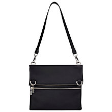 Buy Whistles Oxford Fold Over Satchel Bag, Black Online at johnlewis.com
