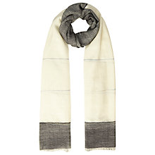 Buy Whistles Wool Blend Colour Block Scarf, Grey Online at johnlewis.com