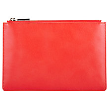 Buy Whistles Small Leather Clutch Bag, Red Online at johnlewis.com