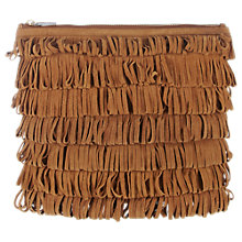 Buy Whistles Lenox Fringe Suede Clutch Bag Online at johnlewis.com