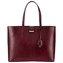 Buy Whistles Fleet Lizard Tote Bag, Burgundy Online at johnlewis.com
