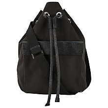 Buy Whistles Nylon Drawstring Bag, Black Online at johnlewis.com